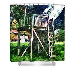 Tree House Shower Curtain
