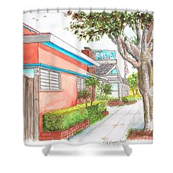 Tree In Laguna Riviera Hotel In Laguna Beach - California Shower Curtain
