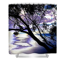 Tree In Silhouette Shower Curtain