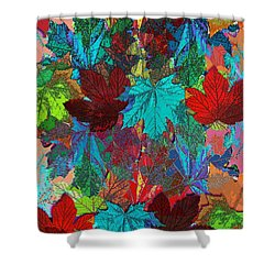Tree Leaves Shower Curtain by Klara Acel