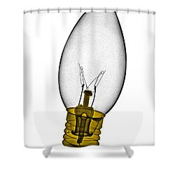 Tree Light Bulb X-ray Shower Curtain by Bert Myers