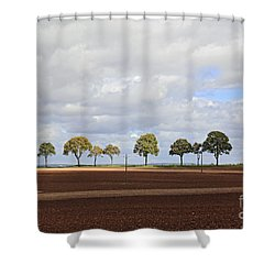 Tree Line France Shower Curtain