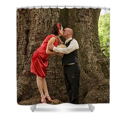 Tree Lovers- Bride And Groom Shower Curtain by Kathleen K Parker