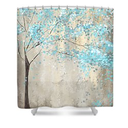 Tree Of Blues Shower Curtain