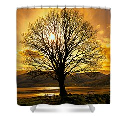 Tree Of Fire Shower Curtain