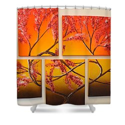 Tree Of Infinite Love Shower Curtain by Darren Robinson