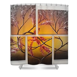 Tree Of Infinite Love Spotlighted Shower Curtain by Darren Robinson