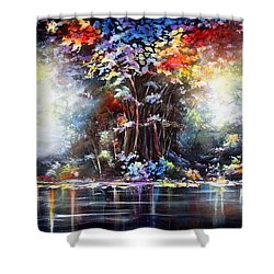 Tree Of Life 2 Shower Curtain by Patricia Lintner