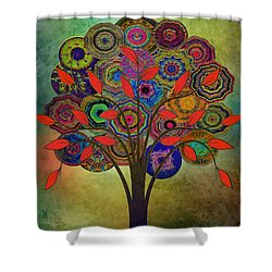 Tree Of Life 2. Version Shower Curtain