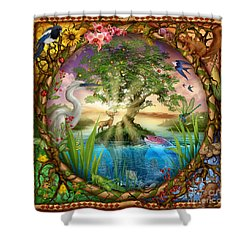 Tree Of Life Shower Curtain by Ciro Marchetti