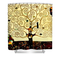 Tree Of Life Shower Curtain by Henryk Gorecki