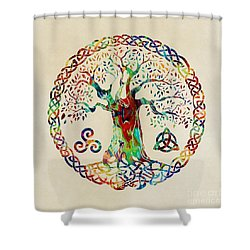 Tree Of Life Shower Curtain by Olga Hamilton