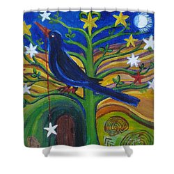 Tree Of Stars Shower Curtain
