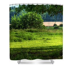 Tree On Summer Field Shower Curtain by Michal Bednarek