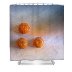 Tree Orange Shower Curtain by Veikko Suikkanen