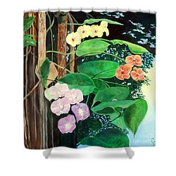 Tree Orchids Shower Curtain