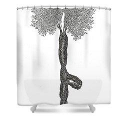 Tree Pose Shower Curtain