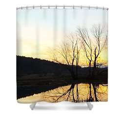 Tree Reflections Landscape Shower Curtain