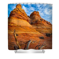 Tree Remnants Shower Curtain by Inge Johnsson