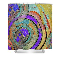 Tree Ring Abstract 3 Shower Curtain by Tony Rubino