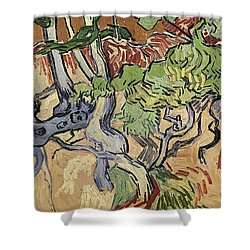 Tree Roots Shower Curtain by Vincent Van Gogh