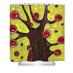 Tree Sentry Shower Curtain by Anastasiya Malakhova
