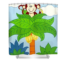 Tree Top Monkey Shower Curtain