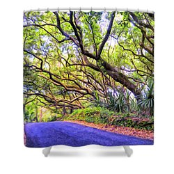 Tree Tunnel On The Big Island Shower Curtain