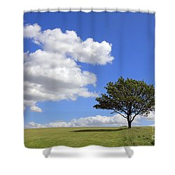 Tree With Clouds Shower Curtain