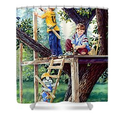 Treehouse Magic Shower Curtain by Hanne Lore Koehler