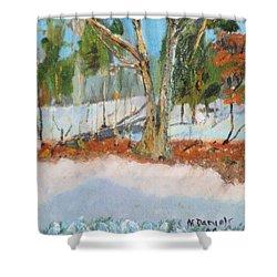 Trees And Snow Plein Air Shower Curtain