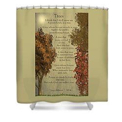 Trees Shower Curtain by David Dehner