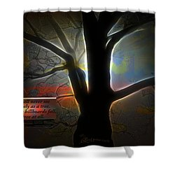 Trees - Featured In 'comfortable Art' Group Shower Curtain by EricaMaxine  Price