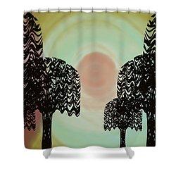 Trees Of Light Shower Curtain