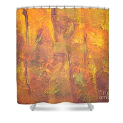 Trees Of The Field Shower Curtain by Olivia  M Dickerson