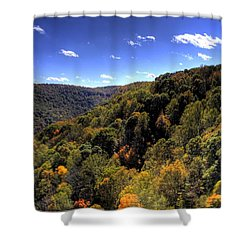 Trees Over Rolling Hills Shower Curtain by Jonny D