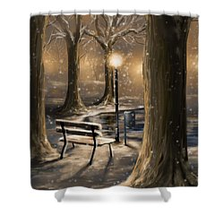 Trees Shower Curtain by Veronica Minozzi