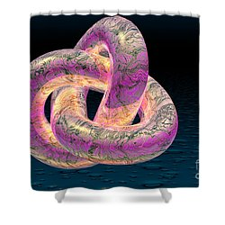 Trefoil Knot Shower Curtain by Carol and Mike Werner