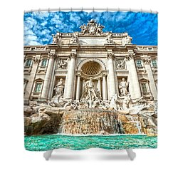 Trevi Fountain - Rome Shower Curtain by Luciano Mortula