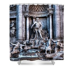 Shower Curtain featuring the photograph Trevi Fountain by Joe  Ng