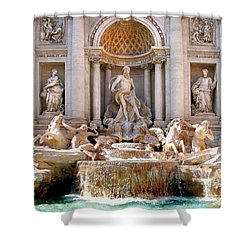 3 Coins Trevi. Rome Shower Curtain by Jennie Breeze