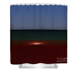 Tri Abstract Shower Curtain by Peter R Nicholls