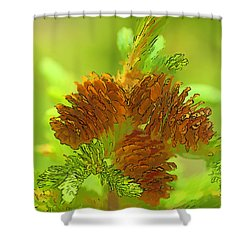 Tri Cones Shower Curtain