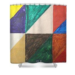 Triangles Shower Curtain by Stormm Bradshaw
