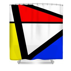 Triangularism I Shower Curtain by Richard Reeve