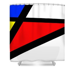 Triangularism II Shower Curtain by Richard Reeve