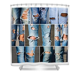 Tribe - Featured 3 Shower Curtain by Alexander Senin