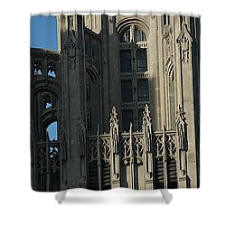 Tribune Tower Shower Curtain by Joseph Yarbrough