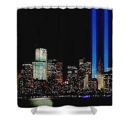 Tribute In Light Memorial Shower Curtain by Nick Zelinsky
