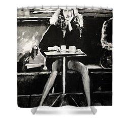 Tribute To Helmut Newton Shower Curtain